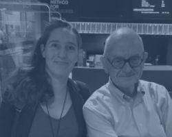 Frederikke Aabo-Rosendal og Henry Marsh